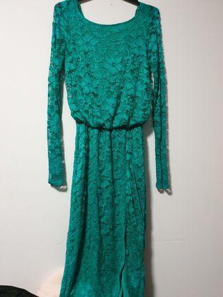 🍇Lace emerald dress
