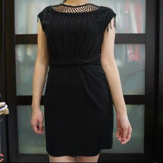 Formal Black Dress with Details