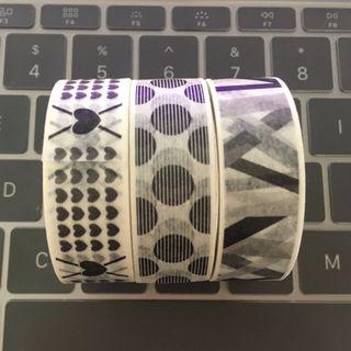 Black and White Washi Tapes