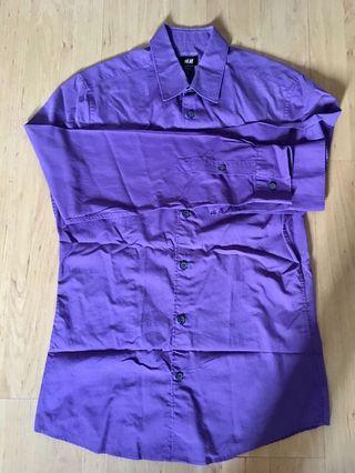 H&M Purple working Shirt