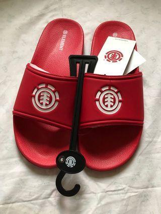 男日款紅色拖鞋
