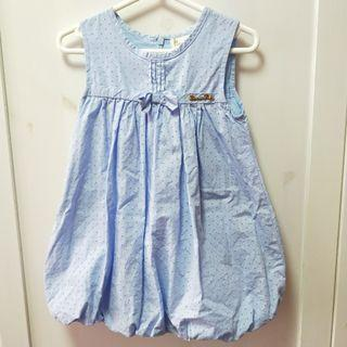 🚚 bn girl lavender blue puffy dress [C]