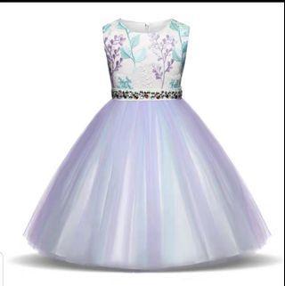 Girls embroidered princess dress children's fluffy mesh skirt in the children's dress