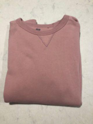 Uniqlo basic sweater dusty pink