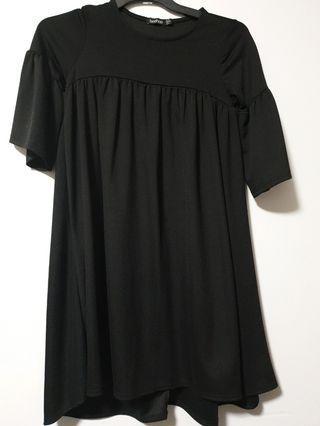 🍇Boohoo black dress