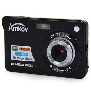 🚚 Amkov CDC3 2.7 Inch TFT Screen 18.0MP CMOS 5.0MP Anti-Shake Digital Video Camera with 8X Digital Zoom