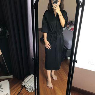 Amygo x Malvava Spencer Black Dress #belanjabulanan