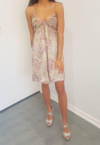 Wish silk lavander print dress size 8