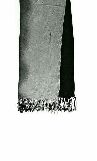 Black & Light Grey Ombré Fade Scarf / Shawl