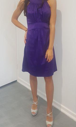 Cooper St purple satin cocktail dress size 8