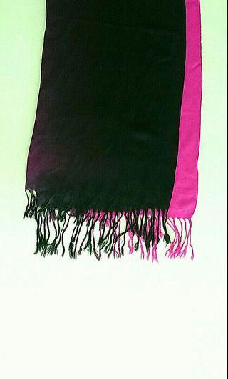 Purple & Fuschia Pink Ombré Fade Scarf / Shawl