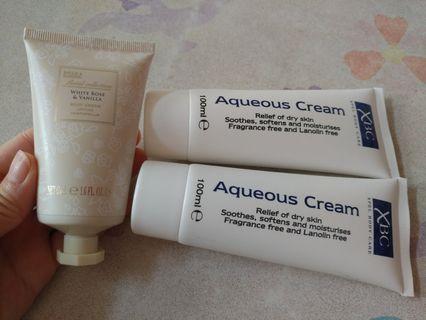 2支Aqueous Cream 及1支 body crean
