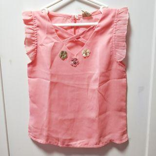 bn pink flower diamond top [C]