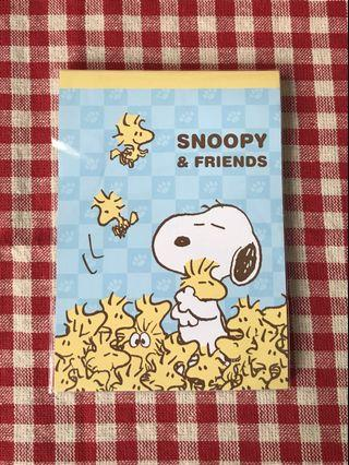 Snoopy & Friends (Yellow) Notepad
