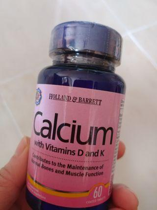 Holland & Barrett Calcium with Vitamins D and K 60粒