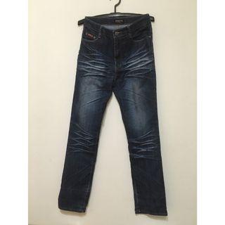 男生風格皺折牛仔褲 L 30~32腰