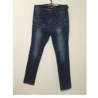 男生潑漆牛仔褲 XL 30~32腰