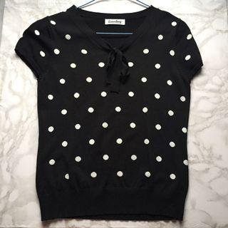 Polkadots Ribbed Top for Women