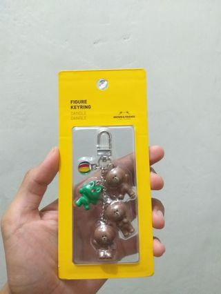 Line brown keychain