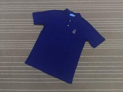 MICKEY MOUSE POLO TEE BLUE  SIZE L