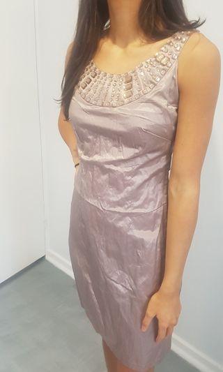 Garfunkle BNWOT mauve jewelled dress size 8