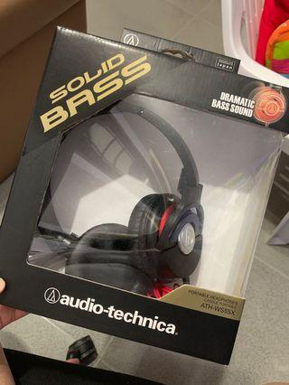 Solid Bass Audio-technica Portable Headphones ATH-WS55X