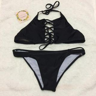 ROSE SWIMSUIT / BIKINI / BAJU RENANG / warna Black