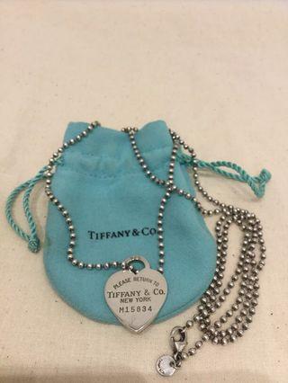 Tiffany & Co Heart Tag Pendant Necklace
