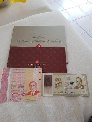 SG50 COMMENORATIVE NOTES