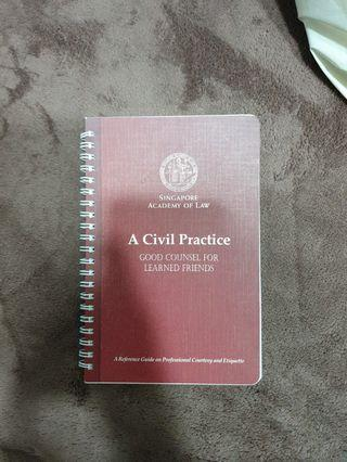 🚚 SUSS LAW401 textbook: A Civil Practice - Good Counsel for Learned Friends