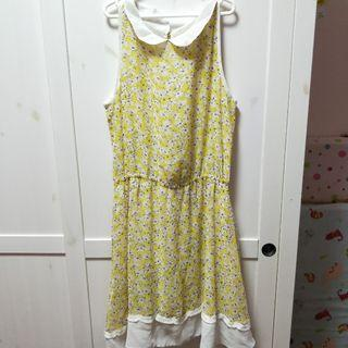 🚚 Yellow Floral Dress [C]