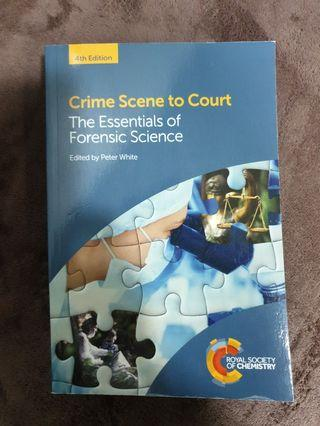 🚚 SUSS LAW205 textbook: Crime Scene to Court: The Essentials of Forensic Science