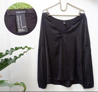 FOREVER 21 top blouse hitam