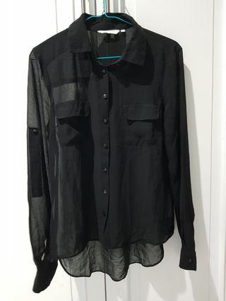Blouse hitam New Look