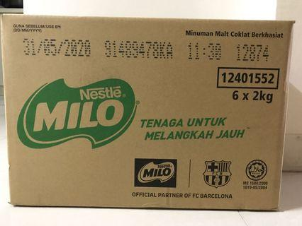 Milo 2kg x 6 packets (SEALED)