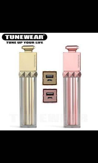 日本熱賣!超靚🤩🤩REINA Premier唇膏形便攜式電池(玫瑰金色)時尚設計🥰🤩!充電器🔌🔋