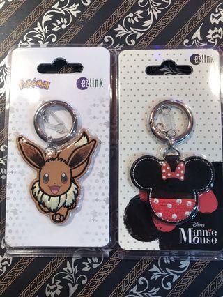 Minnie Mouse n eevee ezlink charm