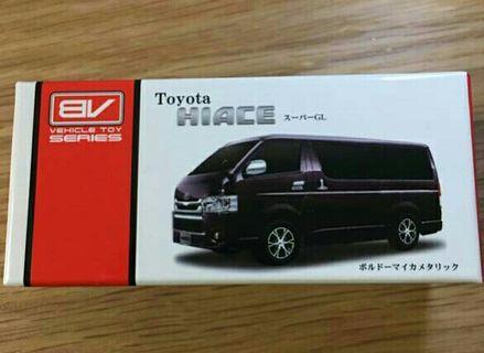 1:60 Pullback Car Model【Toyota Hiace/Purple/Around 8cm length】