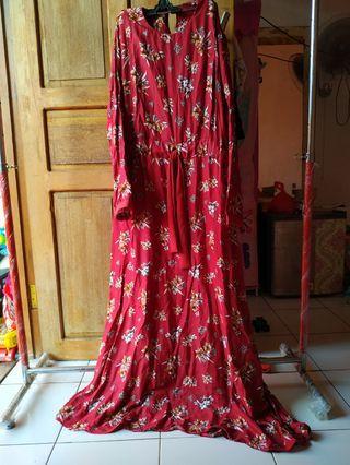 Homey dress busui maroon