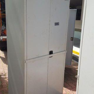 Heavy Duty 2 Doors Metal Cabinet With Cross Bar Lock Only $120 Call Now 90899511 . Good Condition