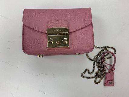 Furla metropolis mini crossbody bag Pink