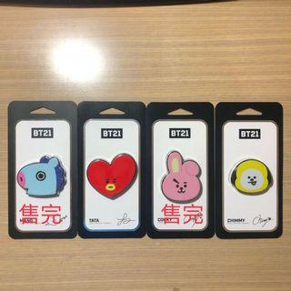 🚚 現貨 韓國 BT21 三段式伸縮金屬環 手機指環 手機支架 指環扣 Cooky Tata Chimmy