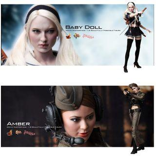 有啡盒內全新 Hottoys MMS157 Baby Doll and Amber Sucker Punch 天姬戰