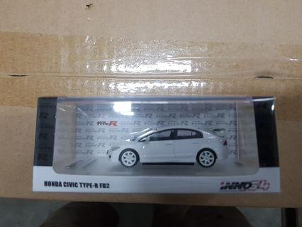 🚚 1:64 Inno64 Honda Civic Type R  FD2 White