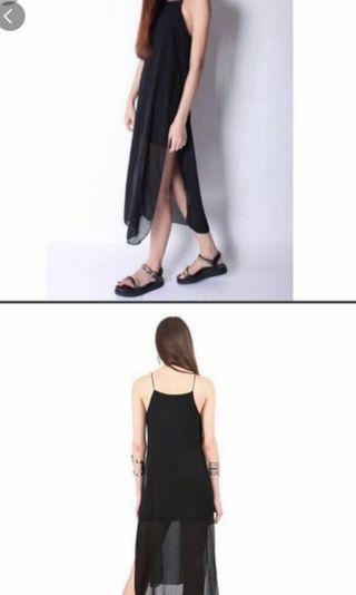 Black Spag Midi Dress
