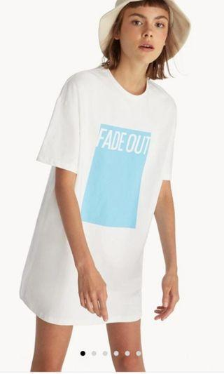 🚚 Fade out oversized tee dress