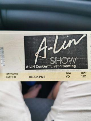 A Lin Ps 2 couple seat ticket