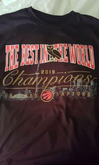 "Raptors OVO ""Best in the World"" Championship T-shirt"