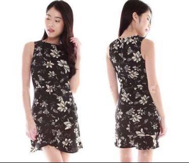 BN Black Floral Dress