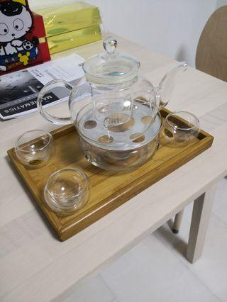 🚚 Glass Tea Set